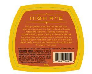High Rye back